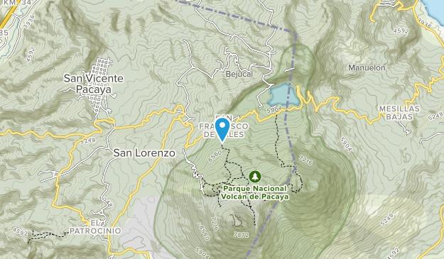 Parque Nacional Volcan de Pacaya Map