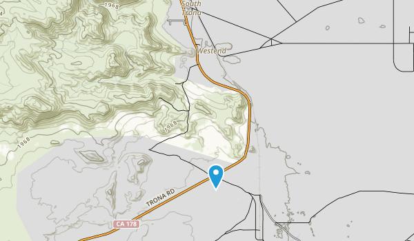 Trona Pinnacles  Map