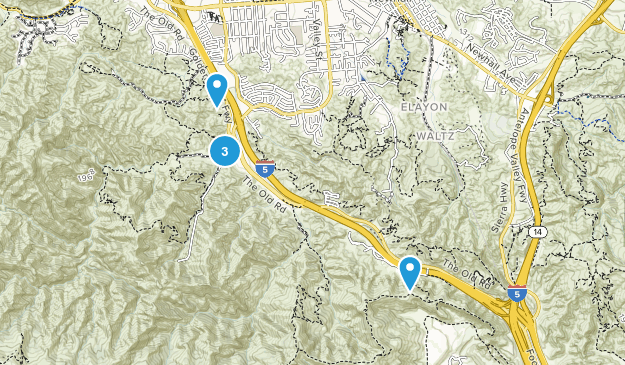 Ed Davis Park at Towsley Canyon Map