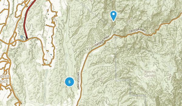 Caspers Wilderness Park Map