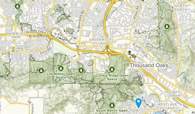 Conejo Ridge Open Space Map