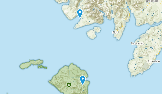 Small Isles National Scenic Area Map
