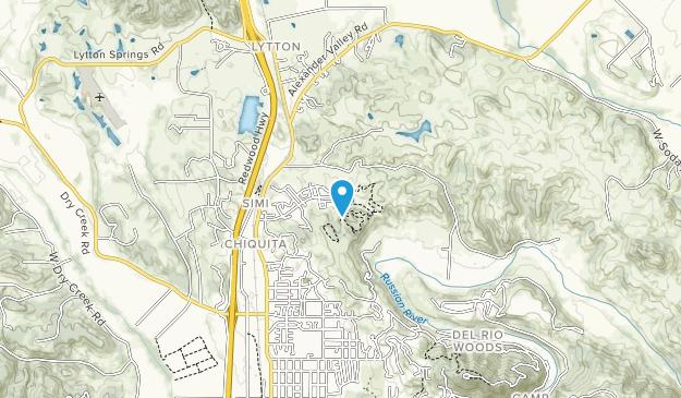 Healdsburg Ridge Open Space Preserve Map