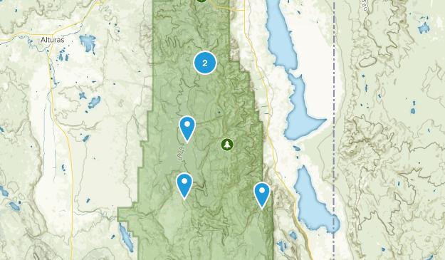 South Warner Wilderness Map
