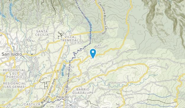 Braulio Carrillo Map