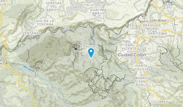Reserva Forestal El Rodeo Map