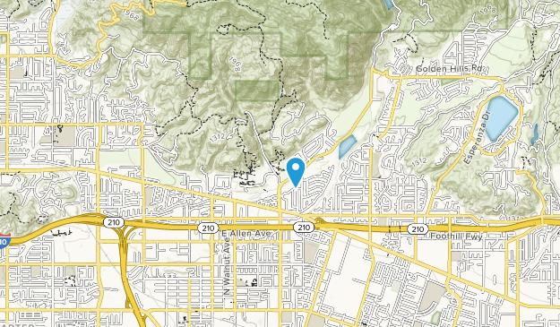 San Dimas Canyon Community Regional Park Map