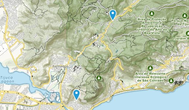 Parque Nacional da Tijuca Map