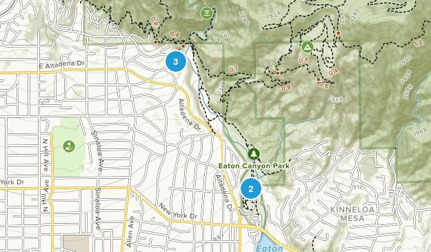 Eaton Canyon Natural Area Park Map