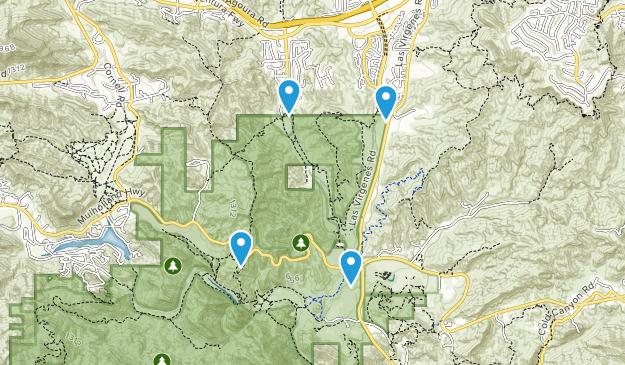 Liberty Canyon Natural Preserve Map
