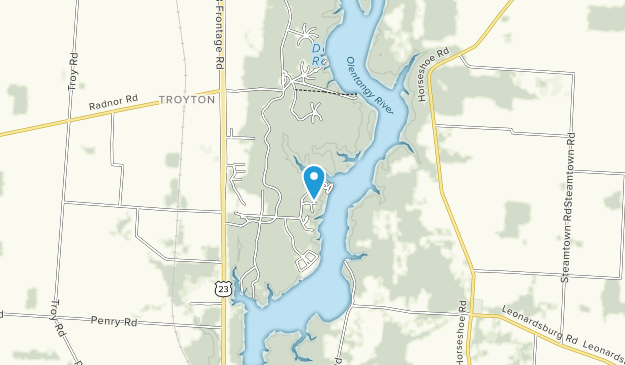 Delaware Reservoir Wildlife Area Map