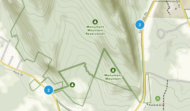 Monument Mountain Reservation Map