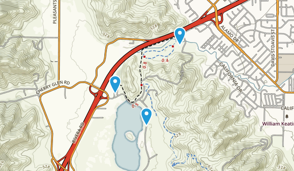 Lagoon Valley Park/Pena Adobe Park Map