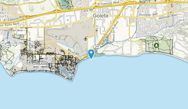 Goleta Beach County Park Map
