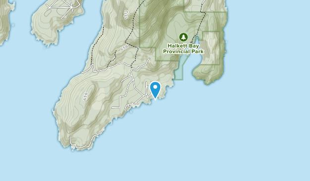 Halkett Bay Provincial Park Map