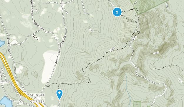 Mount Kearsarge State Forest Park Map