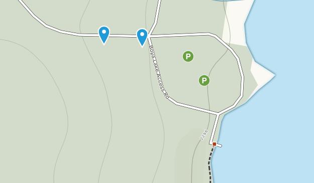 Boya Lake Provincial Park Map