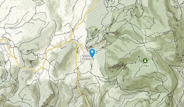 NPR Choč Map