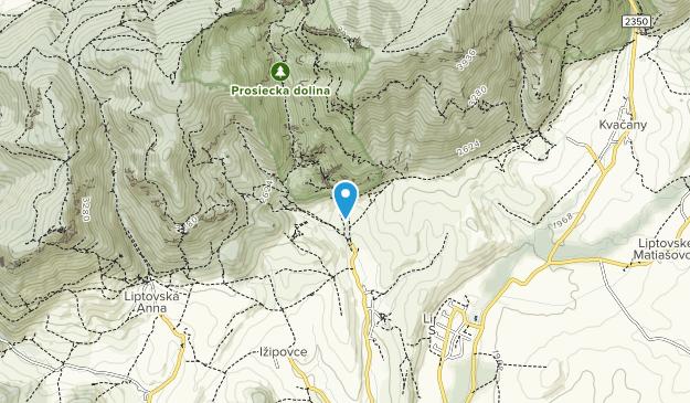 NPR Prosiecka a Kvačianska dolina Map