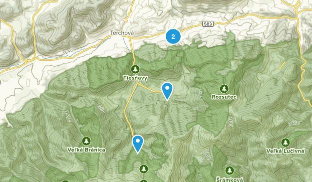 Národný Park Malá Fatra Map