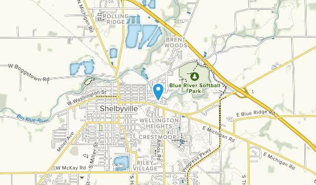 Blue River Softball Park  Map