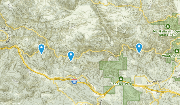 Clear Creek Canyon Park  Map