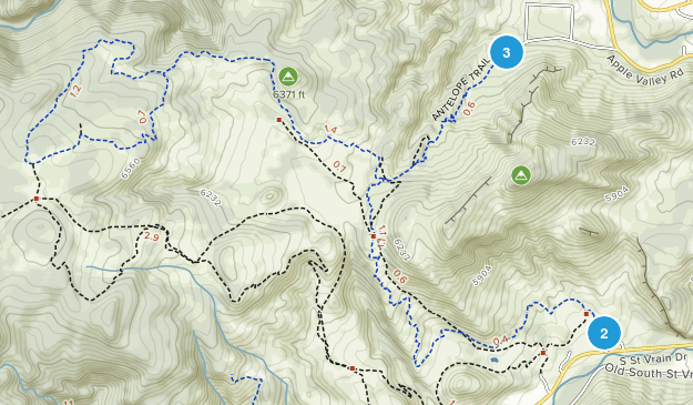 Hall Ranch Open Space Map