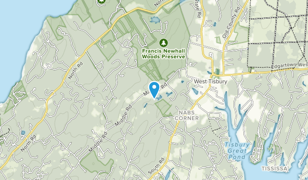 Francis Newhall Woods Preserve Map