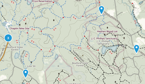 Boxford State Forest Map
