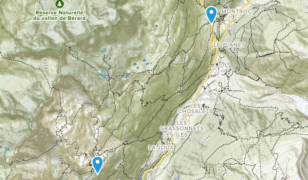 Aiguilles Rouges National Nature Reserve Map