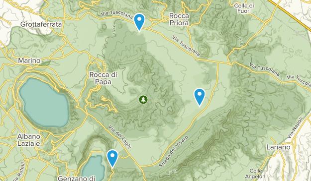 Parco Regional dei Castelli Romani Map
