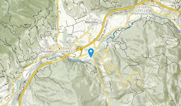 Parco regionale naturale dei Monti Lucretili Map