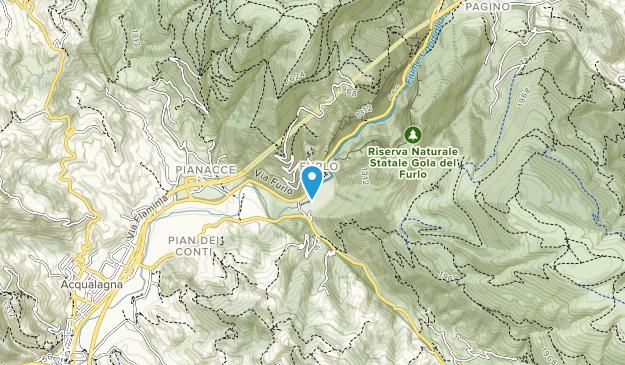 Riserva Naturale Statale Gola del Furlo Map