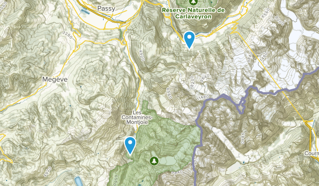 Contamines-Montjoie National Nature Reserve Map