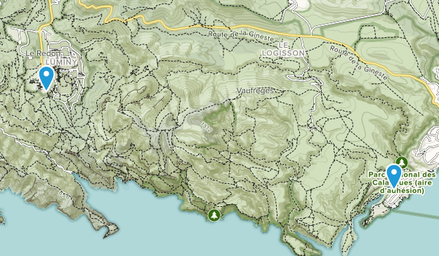 Calanques National Park Map