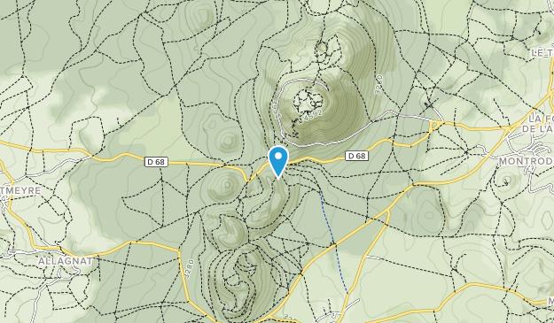 Auvergne Volcanoes Regional Park Map
