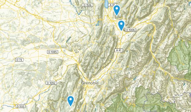 Massif des Bauges Regional Nature Park Map