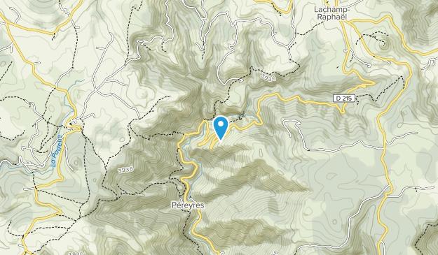Monts d'Ardèche Regional Nature Park Map
