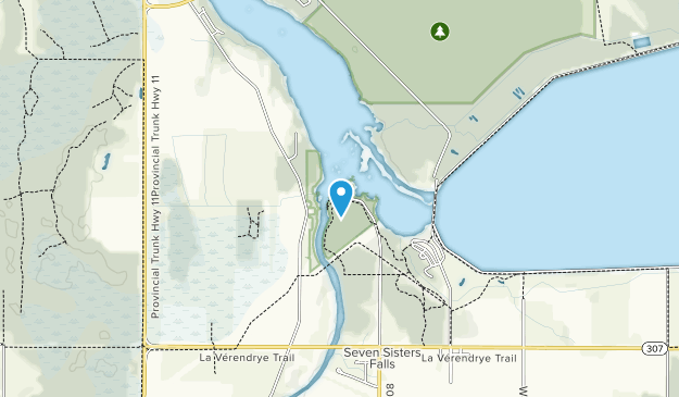 Whitemouth Falls Provincial Park  Map