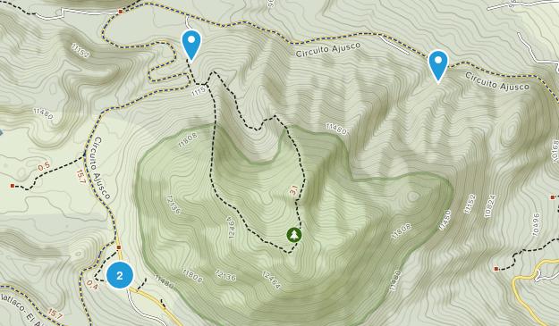 Parque Nacional Cumbres des Ajusco Map