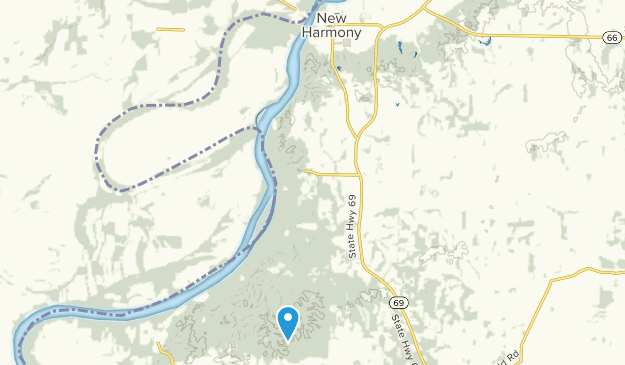 Harmonie State Park Map