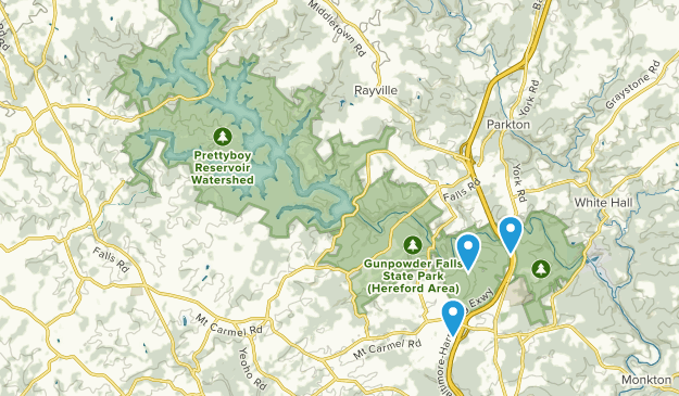 Gunpowder Falls State Park - Hereford Area Map