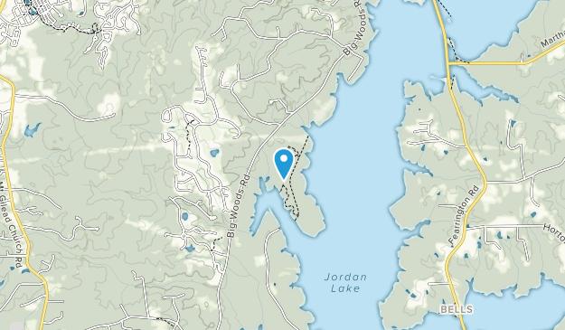 Jordan Lake Educational State Forest Map