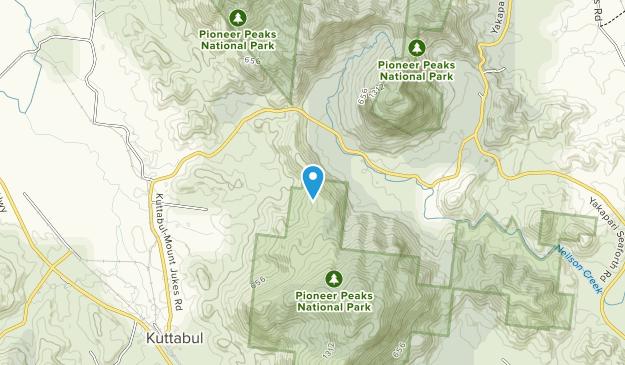 Pioneer Peaks National Park Map
