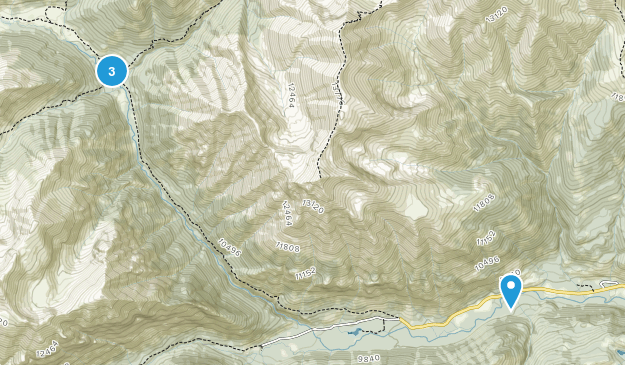 Redcloud Peak Wilderness Study Area Map