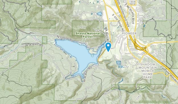 Lake Siskiyou (Siskiyou County Flood Control District) Map