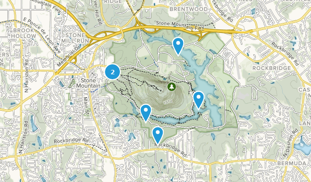 Stone Mountain Park Map