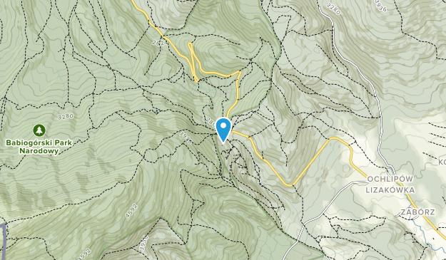 Babiogorski Park Narodowy Map