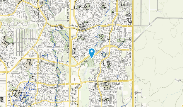 Stetson Hills Open Space Map