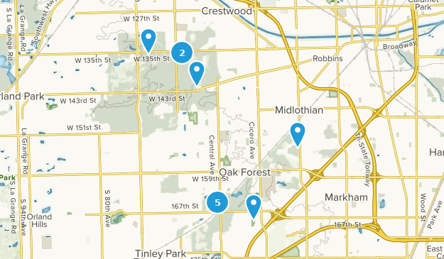 Tinley Creek Forest Preserve Map
